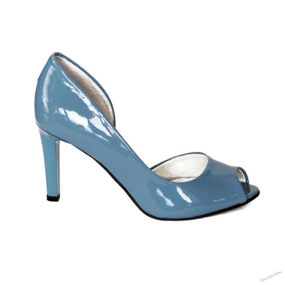 44ab63be04 Modré dámske kožené lodičky