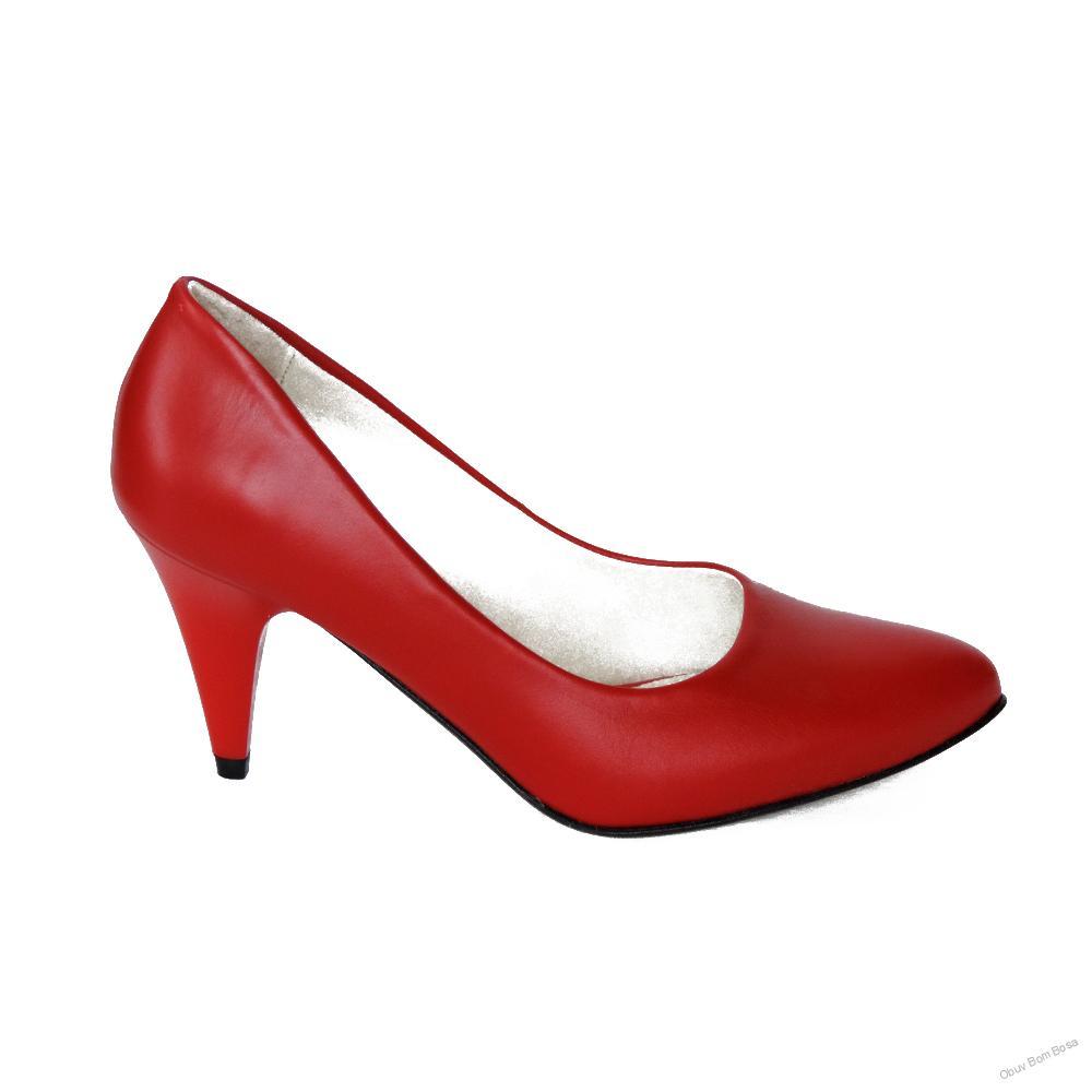 243b83461f04 Červené dámske kožené lodičky