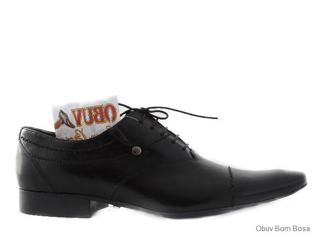 a00743eb3d719 Pánska obuv | Čierne pánske spoločenské kožené poltopánky | OBUV ...
