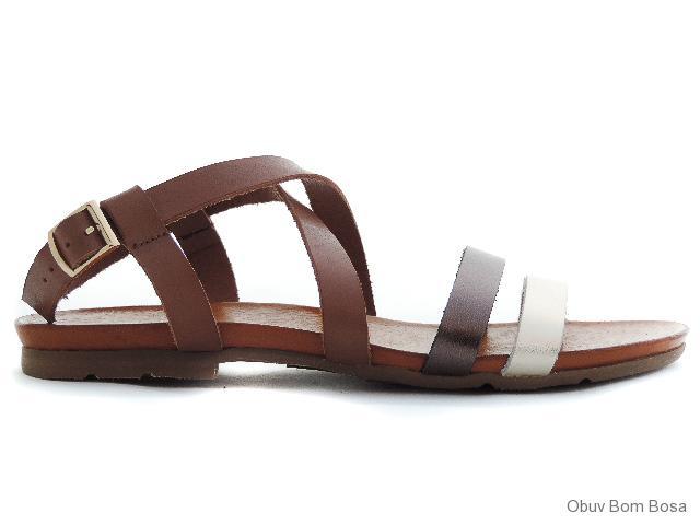 7255be2d509a Hnedé dámske kožené sandale