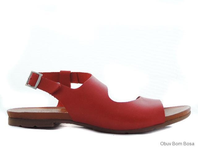 815a81a16e89 Červené dámske kožené sandale
