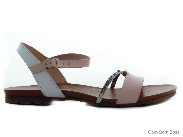 677a4c92d7bd Biele dámske kožené sandale