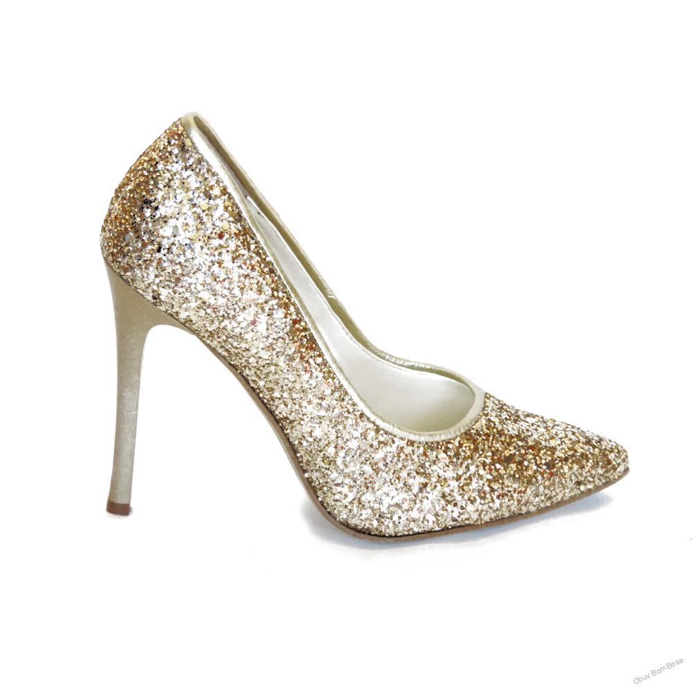 86175df95e3b Zlatá dámska spoločenská obuv