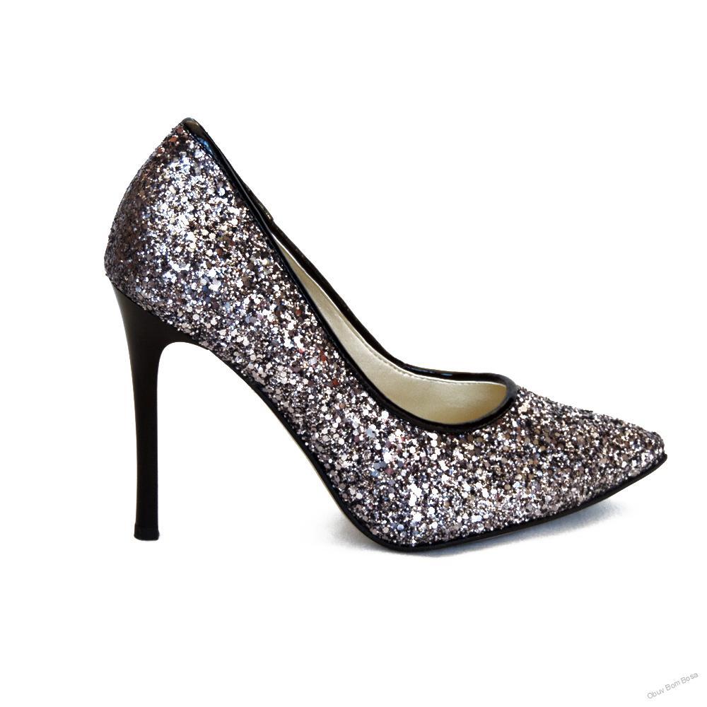 593aaa753a4f Strieborná dámska spoločenská obuv