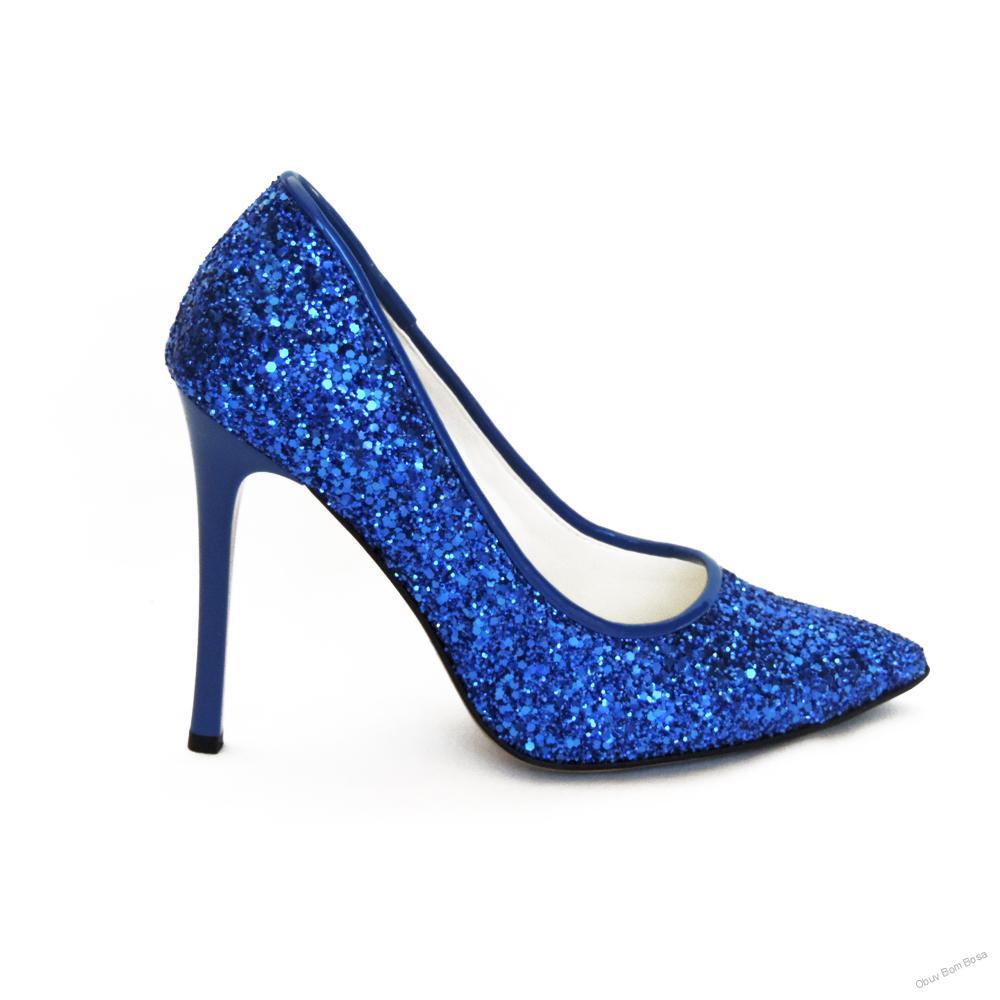 Modrá dámska spoločenská obuv 05f8d12d1e1