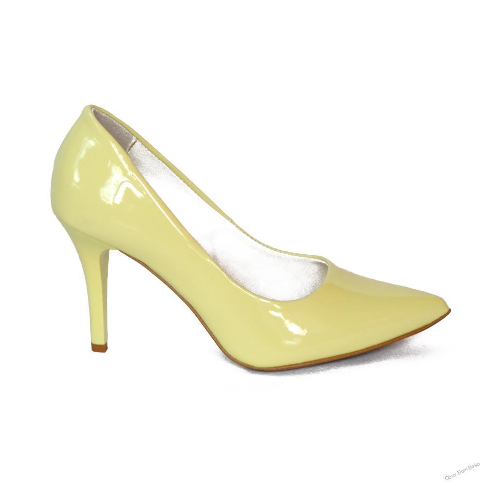 Žlté dámske kožené lodičky 85d7ed4226